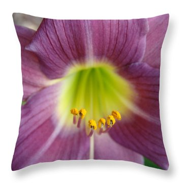 Grape Purple Daylilies  Throw Pillow
