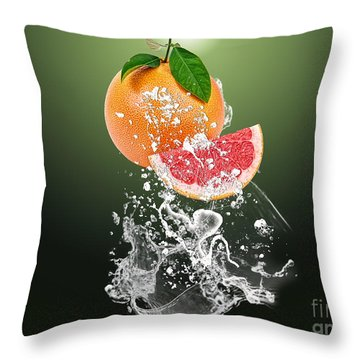 Grapefruit Splash Throw Pillow by Marvin Blaine