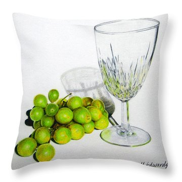 Grapes And Crystal Throw Pillow