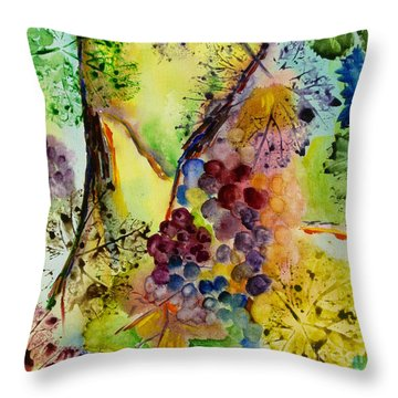 Grapes And Leaves IIi Throw Pillow