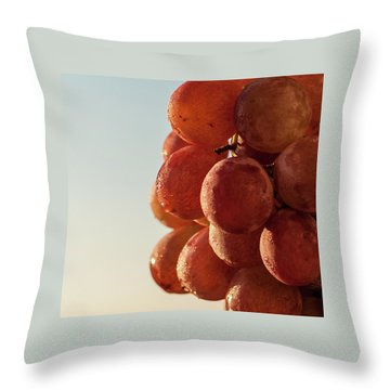 Grapes Cluster Throw Pillow