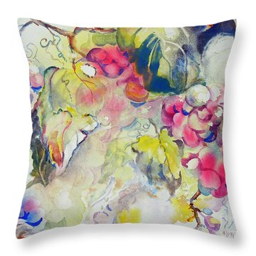 Grapes In Season Throw Pillow