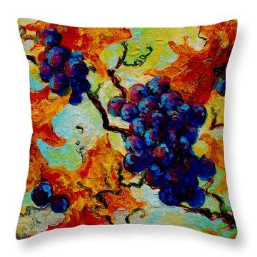 Grapes Mini Throw Pillow