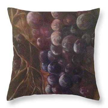 Grapes On A Vine Ca. Throw Pillow