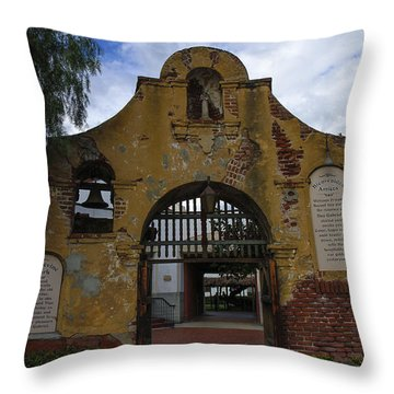 Throw Pillow featuring the photograph Grapevine Park by Robert Hebert
