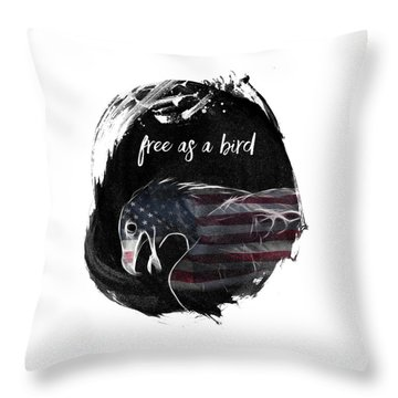 Graphic Art Free As A Bird Throw Pillow
