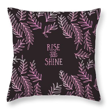 Graphic Art Rise And Shine - Pink Throw Pillow