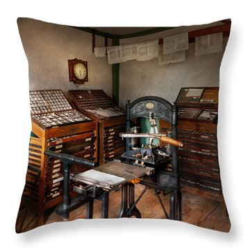 Graphic Artist - The Print Office - 1750  Throw Pillow by Mike Savad