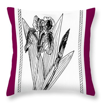 Graphic Iris Throw Pillow