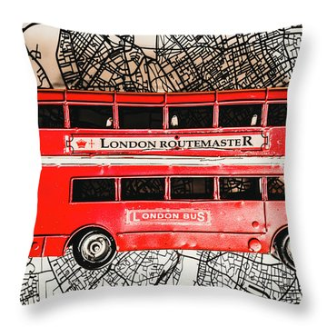 Graphic Of Great Britain Throw Pillow