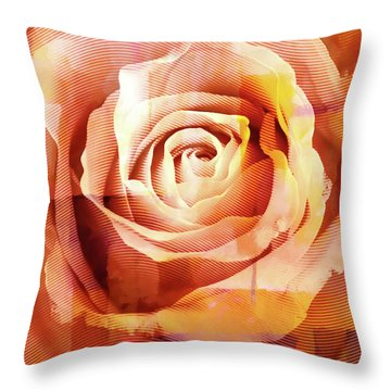 Graphic Rose Throw Pillow