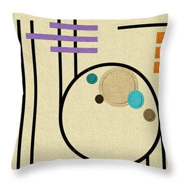 Graphics In The Sand Throw Pillow by Tara Hutton