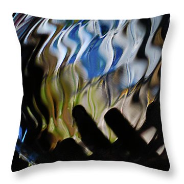 Throw Pillow featuring the photograph Grasping At Curves by Susan Capuano