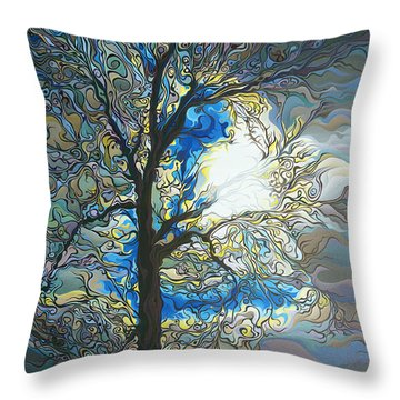 Grasping At Sunshine Throw Pillow