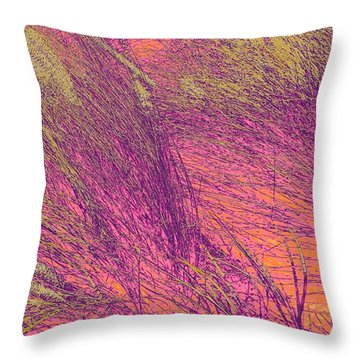 Grass Abstract 3 Throw Pillow