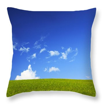 Grass Cloud Sky Throw Pillow by Brandon Tabiolo - Printscapes