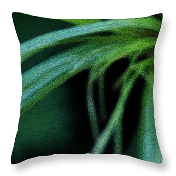 Grass Dance Throw Pillow by Linda Shafer