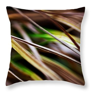 Throw Pillow featuring the photograph Grass by Michaela Preston