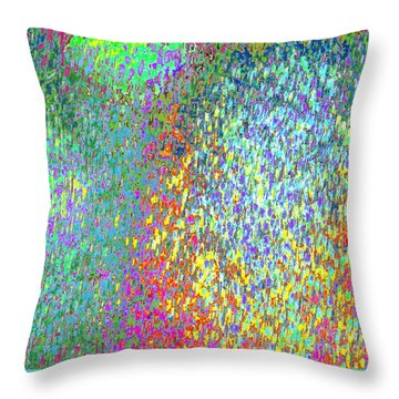 Grass On The Wall Throw Pillow