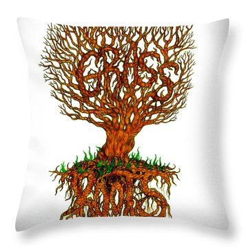 Grass Roots Throw Pillow
