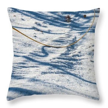 Grass Scapes In The Sand Throw Pillow
