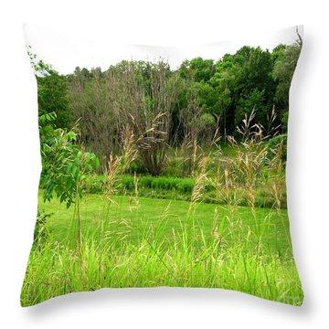 Swaying Grass Throw Pillow