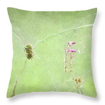 Grasses And Blooms Throw Pillow