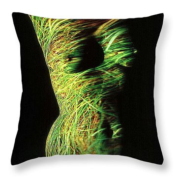 Grasses Throw Pillow by Arla Patch