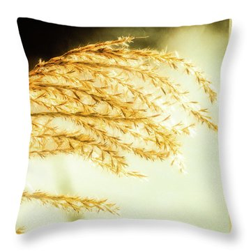 Grasses Of Gold Throw Pillow