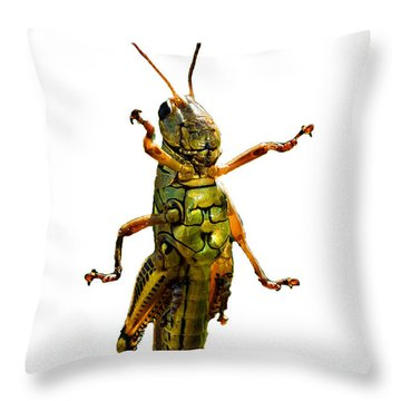Grasshopper II Throw Pillow