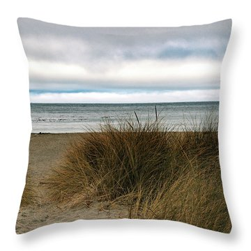 Grassy Beach Throw Pillow