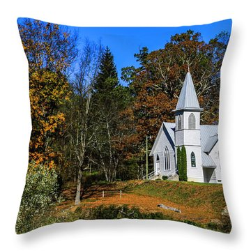 Grassy Creek Methodist Church Throw Pillow