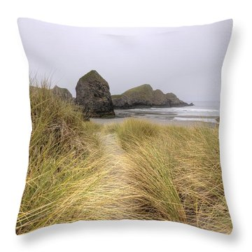 Grassy Dunes Throw Pillow by Kristina Rinell