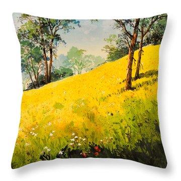 Grassy Hillside II Throw Pillow
