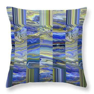 Grate Art - Blue And Green Images - Manipulated Photography Throw Pillow