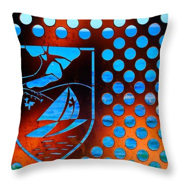 Throw Pillow featuring the photograph Grate View by Richard Patmore