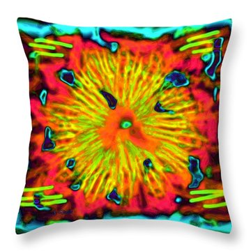 Grateful Dead Throw Pillow by Alec Drake