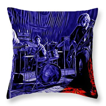 Grateful Dead Collection Throw Pillow by Marvin Blaine