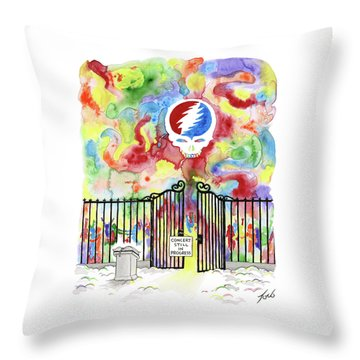 Grateful Dead Concert In Heaven Throw Pillow