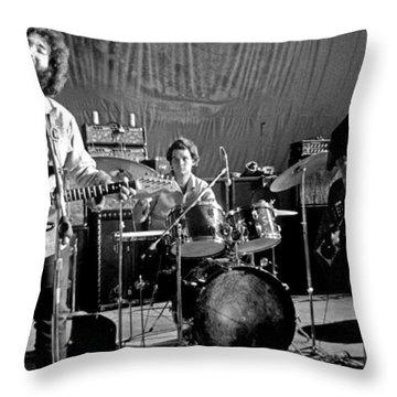 Grateful Dead In Concert - San Francisco 1969 Throw Pillow
