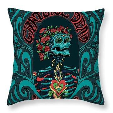 Grateful Dead Santa Clara 2015 Throw Pillow