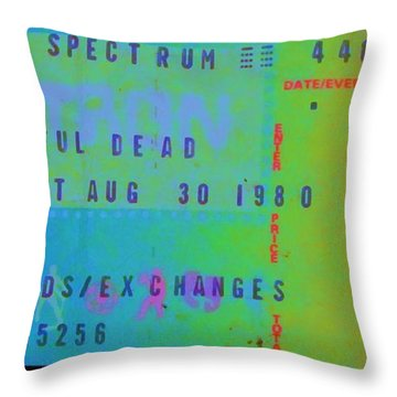 Grateful Dead - Ticket Stub Throw Pillow
