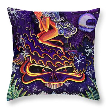 Grateful Nights Throw Pillow