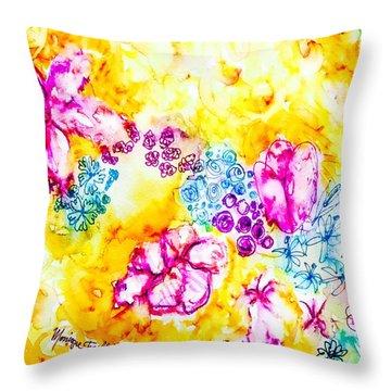 Gratitude Blooms Throw Pillow