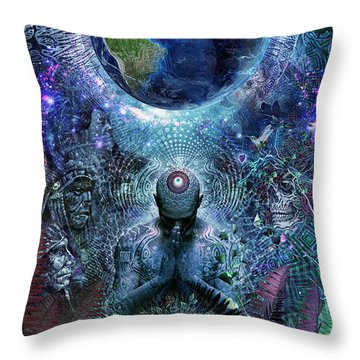 Gratitude For The Earth And Sky Throw Pillow by Cameron Gray