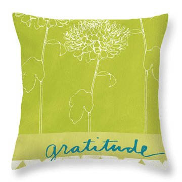 Gratitude Throw Pillow by Linda Woods