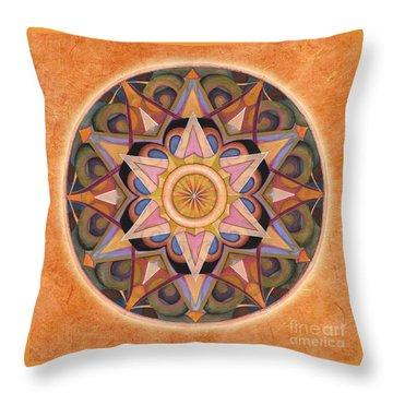 Gratitude Mandala Throw Pillow