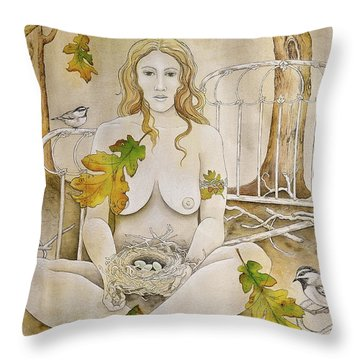 Gratitude Throw Pillow by Sheri Howe