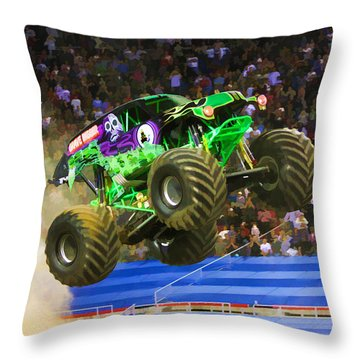 Grave Digger 7 Throw Pillow by Lanjee Chee