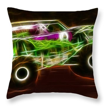 Grave Digger Monster Truck Throw Pillow